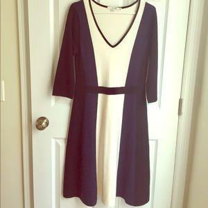 Boden Black, Navy & White Dress, Women's Size 12